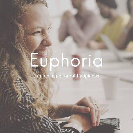 Euphoria Feeling Great Pleasure Happiness Concept