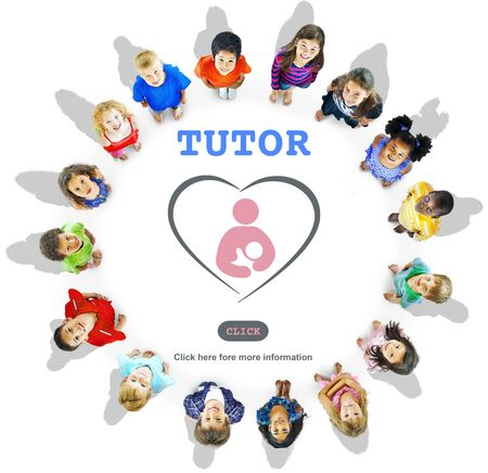 tutor: Tutor Training Education Intelligence Tutoring Concept Foto de archivo