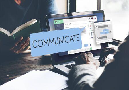 communicate: Concepto comunicarse comunicaci�n conversaci�n