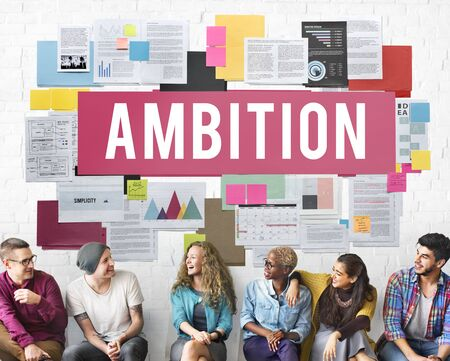 ambition: Ambition Action Athletics Business Growth Concept