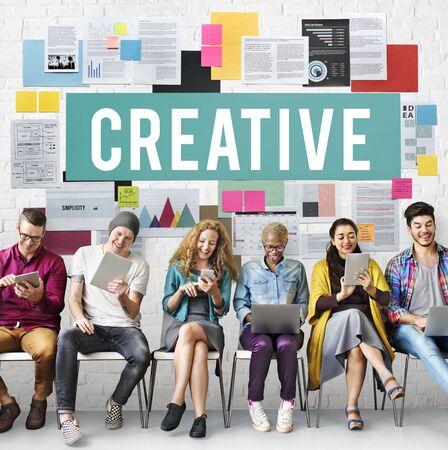 skills diversity: Creative Create Inspiration Invention Ideas Style Concept Stock Photo