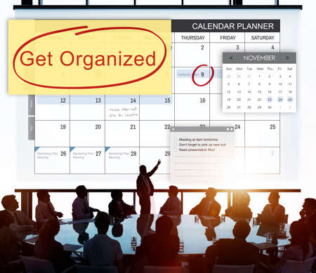 up do: Get Organized Tidy Up Clean Schedule To Do Concept
