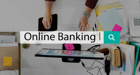 technology transaction: Online Banking Financial Transaction Payment Technology Concept