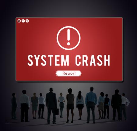 System Crash Network Problem Technology Software Concept Imagens