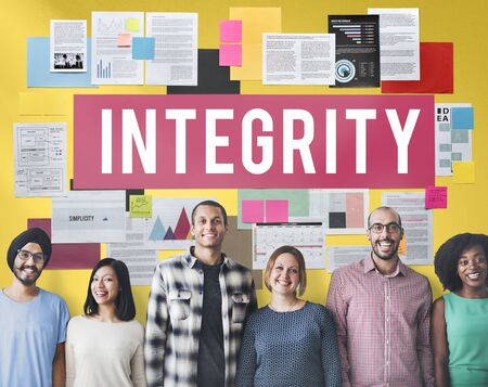 Integrity Ethics Loyalty Moral Motivation Respect Concept Stock Photo