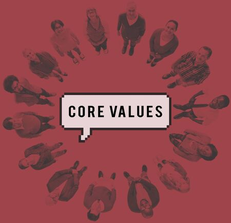 valores morales: Core Values Ideology Principles Purpose Moral Policy Concept