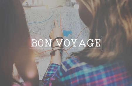 bon: Bon Voyage Backpacking Travel Destination Journey Concept