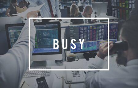 hardworking: Busy Hardworking Multitasking Overload Unavailable Concept