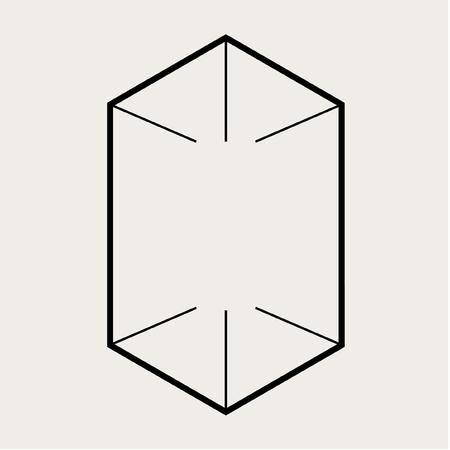 分離された背景の長方形のボックスケース。  イラスト・ベクター素材