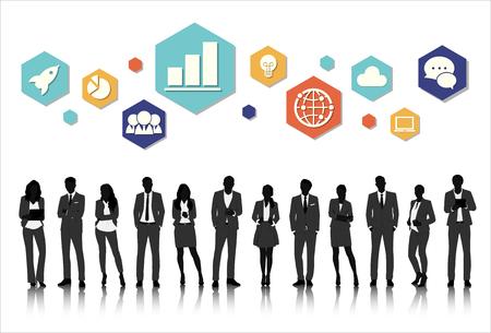 trouser: Vector UI Illustration Business People Concept