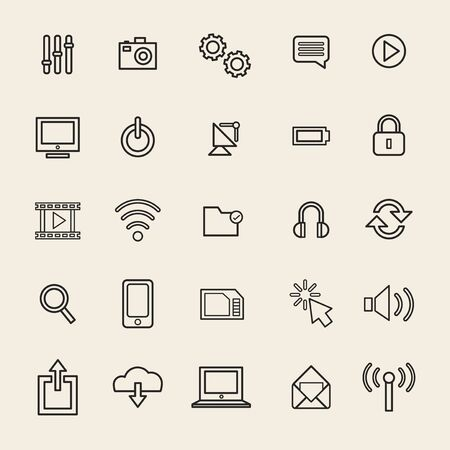 Vector Illustration UI Technology Icon Concept Illustration