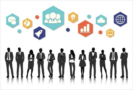 ui: Vector UI Illustration Business People Concept