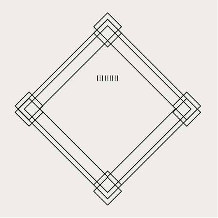 Diamond Frame Graphic Style Label Badge