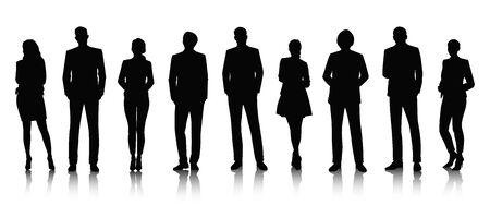 formal dress: Vector UI Illustration Business People Concept