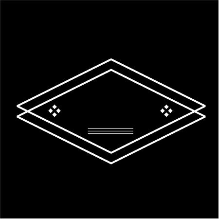 Diamond Graphic Style Badge Concept