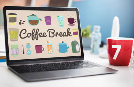 breaks: Coffee Break Beverage Pause Relaxation Casual Concept