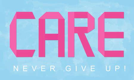 preocupacion: La preocupaci�n de cuidados Protecci�n de Bienestar Caridad concepto de la ayuda