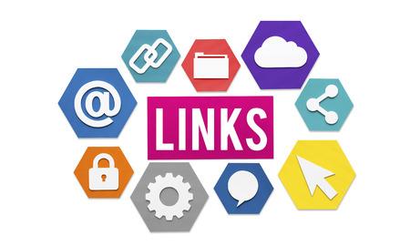 Links Internet Connection Sharing-Konzept Standard-Bild - 61076978