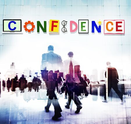 confidence: Confidence Conviction Belief Faith Reliability Trust Concept
