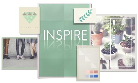 inspire: Inspire Aspiration Creativity Motivate Trust Vision Concept