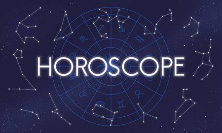 signes du zodiaque: Horoscope Astral Calendrier Pr�vision Future Signs Concept