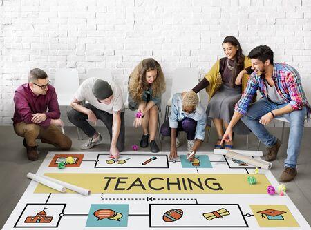 literacy instruction: School Teaching Study Literacy Education Concept Stock Photo