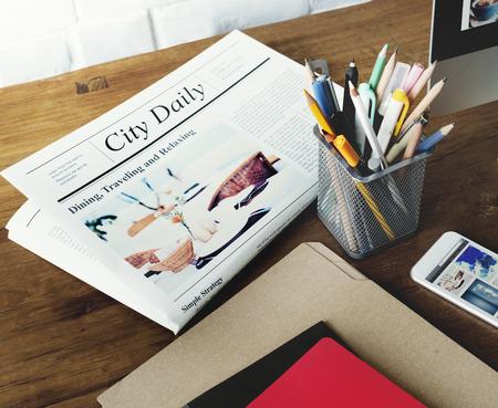 newsfeed: Newspaper Pen News Folder Lifestyle Concept