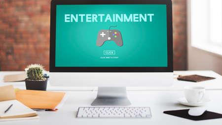 hobby: Gaming Entertainment Fun Hobby Digital Technology Concept Stock Photo