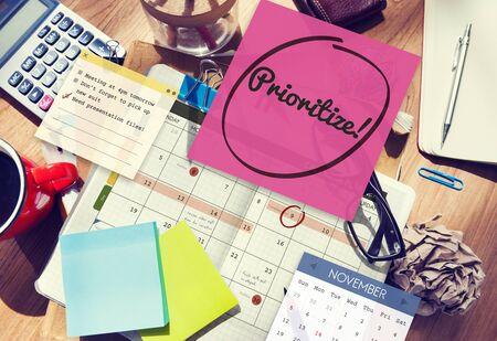 tasks: Prioritize Effectivity Importance Tasks Urgency Concept Stock Photo