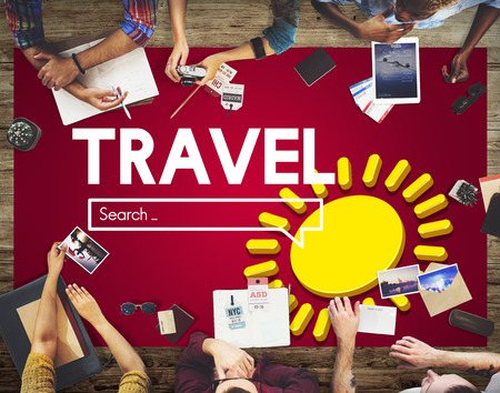 Travel with search concept