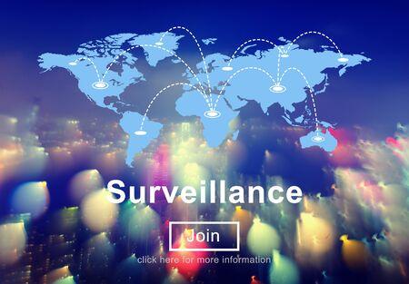 observe: Surveillance Caution CCTV Information Observe Concept