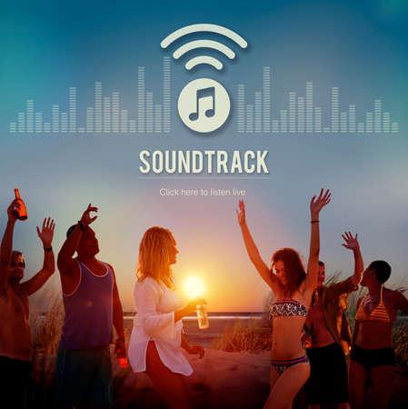 electronica musica: La pista de audio Dise�o Pantalla concepto de m�sica electr�nica Foto de archivo