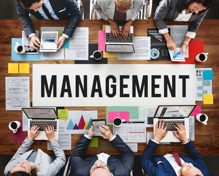 roles: Management Mentor Organization Strategy Roles Concept Stock Photo
