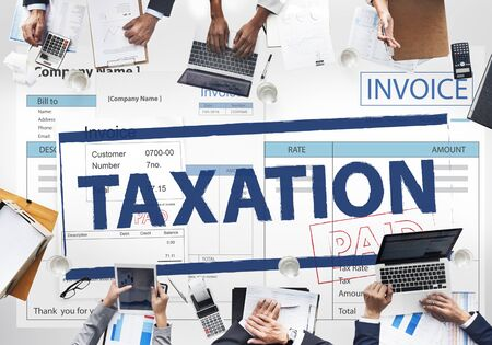 taxation: Payment Received Taxation Tax Time Concept
