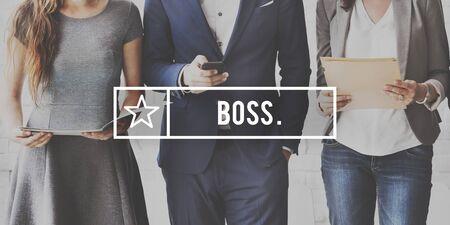 role  model: Boss Leader Coach Role Model Concept