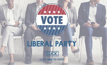 libertarian: Liberal Party Election Vote Democracy Concept Stock Photo