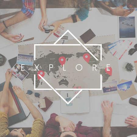 Explore Destination Traveling Trip Concept