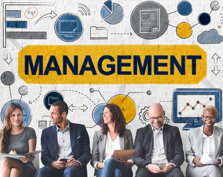 managing: Management Manager Managing Organization Concept