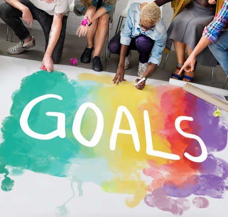 desire: Desire Inspire Goals Follow Your Dreams Concept Stock Photo