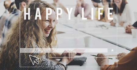 life is good: Enjoy Happy Life Good Have Fun Concept