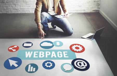 Concepto Web página de Internet Medios de Comunicación Social Networking