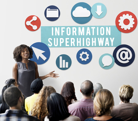 information superhighway: Information Superhighway Online Network Connect Concept Stock Photo