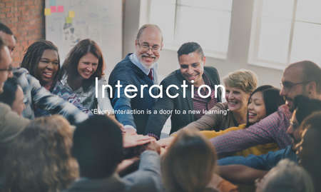 communicating: Interaction Communicating Colleagues Connection Concept