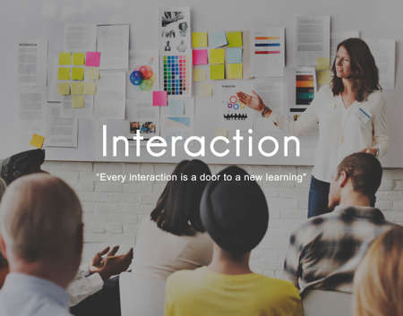 Interaction Communicating Colleagues Connection Concept