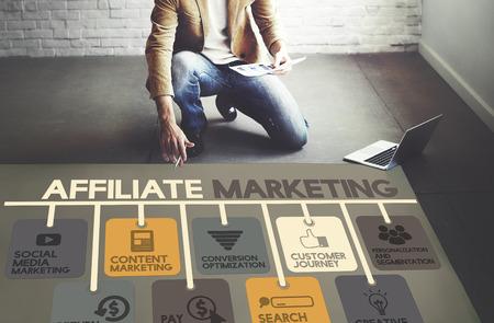 Affiliate Marketing Publicité Concept Commercial Banque d'images