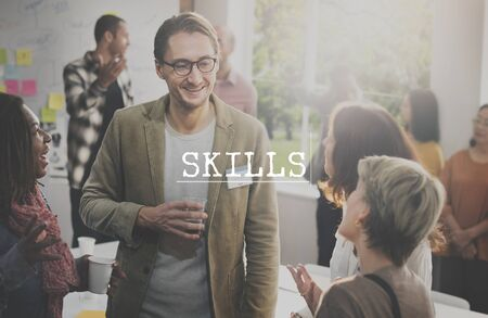 professional occupation: Skills Intelligence Occupation Professional Talent Concept Stock Photo