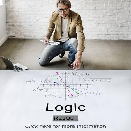 Logic Intelligenz Rational Grund Lösung Idee Konzept Standard-Bild