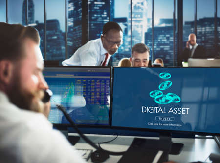 economic issues: Digital Assets Finance Money Business Concept Stock Photo