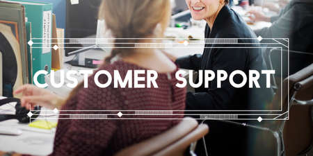 customer support: Customer Support Service Satisfaction Concept