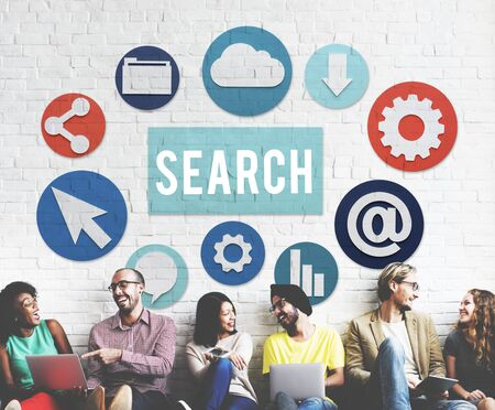 Seo Search Engine Optimization Searching Concept Stock Photo